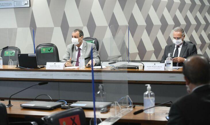 A sessão desta sexta-feira (18) foi esvaziada por senadores de oposição (Foto: Marcos Oliveira/Agência Senado)