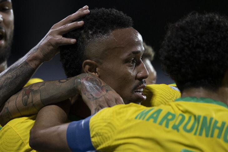 Éder Militão marcou o gol do Brasil - Foto - Lucas Figueiredo/CBF