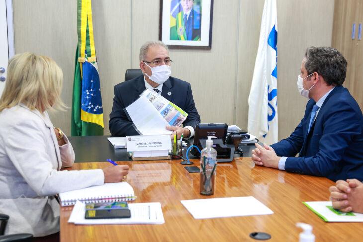 O encontro ocorreu em Brasília nesta quarta-feira (30) (Foto: Walterson Rosa)