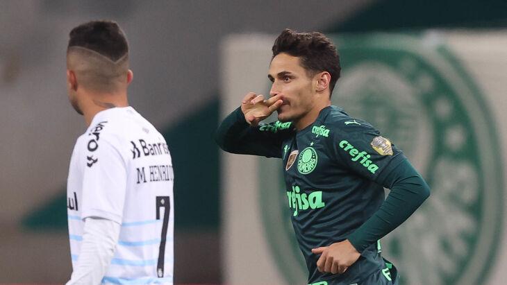 Raphael Veiga comemora seu gol -Foto-Cesar Greco-SEPalmeiras