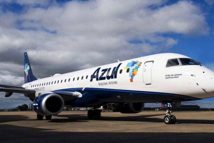 Azul utilizará o EMB-190 em Passo Fundo -Foto-Divulgação-ALA