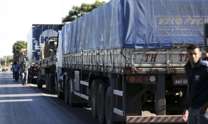 Em 2018, paralisação da categoria provocou desabastecimento nacional de alimentos, medicamentos e combustível. Foto: Marcelo Camargo/Agência Brasil