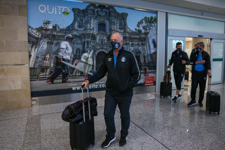 Felipão comanda o Grêmio em Quito (Foto – Lucas Uebel-GFBPA)