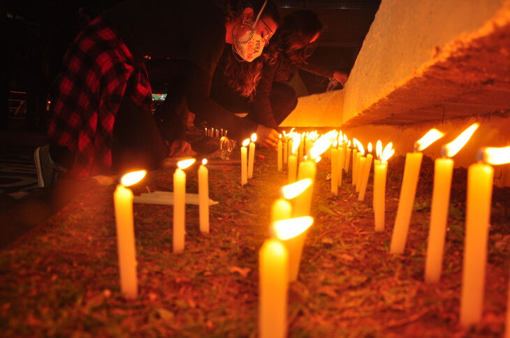Ato foi realizado na Praça do Teixeirinha (Foto: Gerson Lopes/ON)