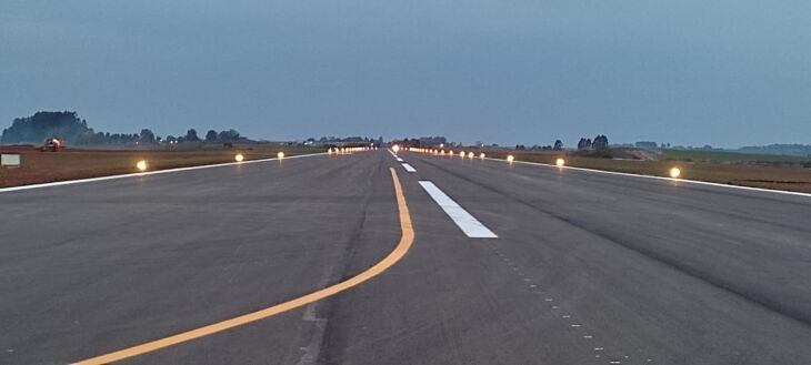Amanhã, o Governador Eduardo Leite deve visitar as obras do aeroporto - Foto-Divulgação