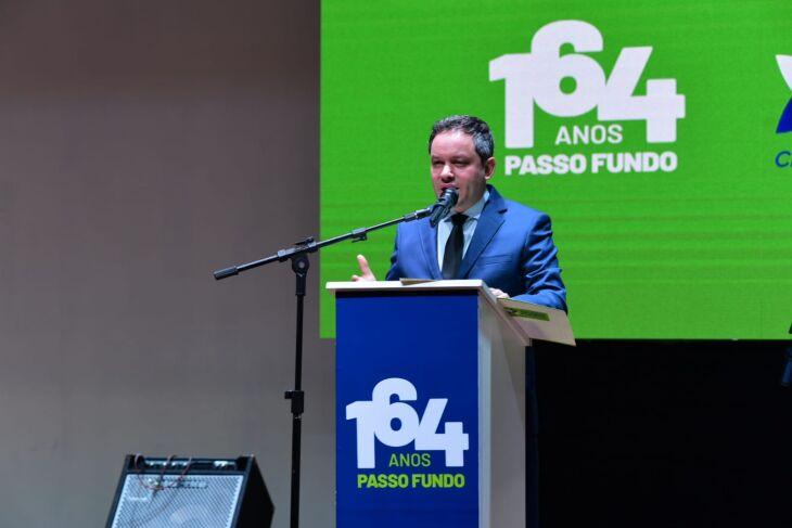 """Prefeito Pedro Almeida: """"uma cidade que nos orgulha, nos dá esperança e tem otimismo"""" Foto-Diogo Zanatta/PMPF"""