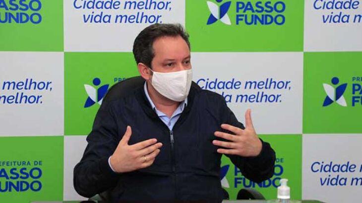"""""""A cidade foi projetada, pensada e idealizada a partir de 2013 de uma nova forma"""", Pedro Almeida, prefeito de Passo Fundo (Foto: Michel Sanderi/PMPF)"""