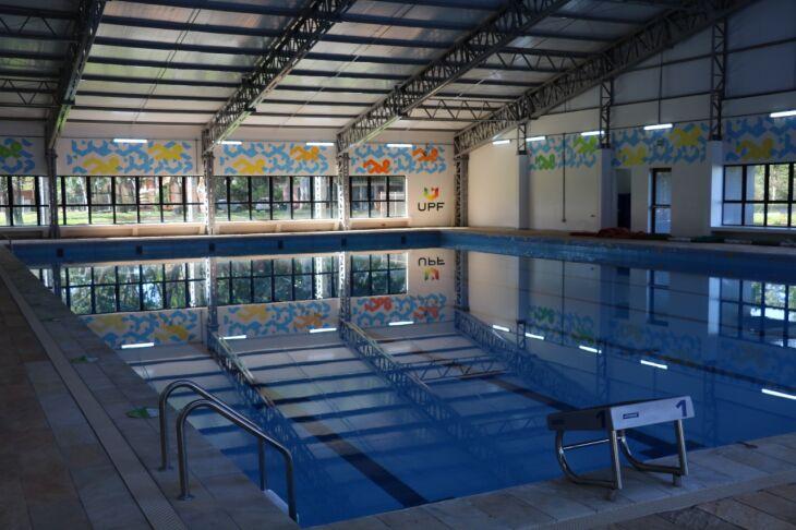 As atividades são realizadas na nova piscina térmica da instituição (Foto: Camila Guedes/Divulgação UPF)