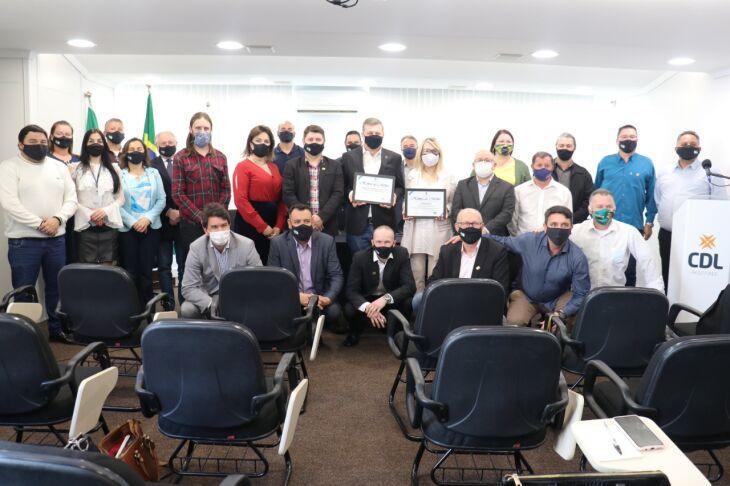 A solenidade contou com a presença de todos os parlamentares,e do vice-prefeito João Pedro Nunes (Foto: Divulgação/ON )