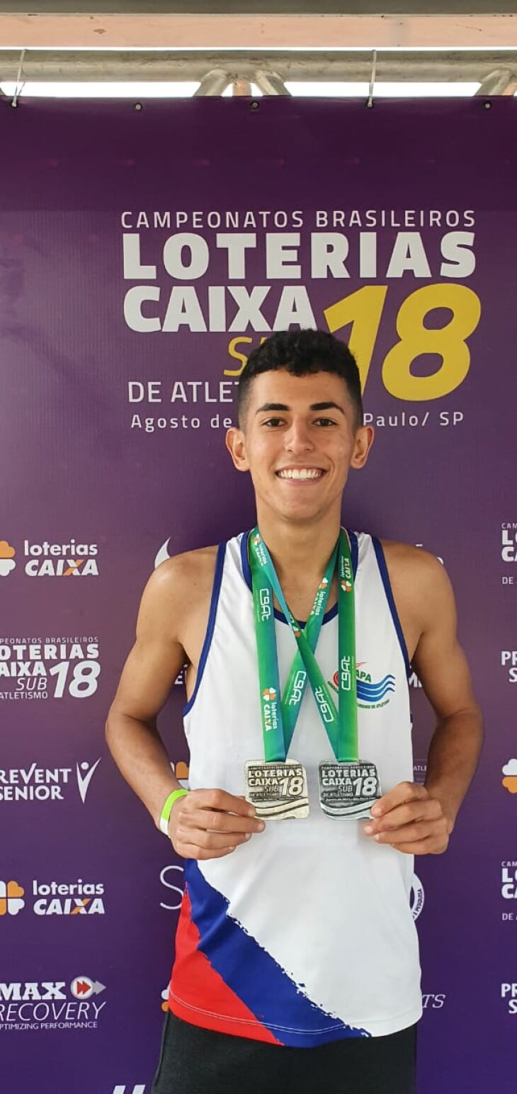 Bernardo conquistou medalhas de prata e bronze (Foto: Divulgação/ON)