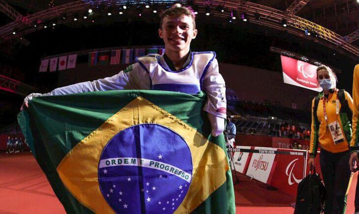 Nascido em Praia Grande (SP), Nathan chegou à primeira final do parataekwondo nos jogos (Foto: Rogério Capela/CPB)
