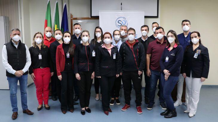 Nova Diretoria da Associação de Funcionários do Hospital São Vicente de Paulo de Passo Fundo toma posse (Foto: Assessoria de Imprensa HSVP/Flávia Dias)
