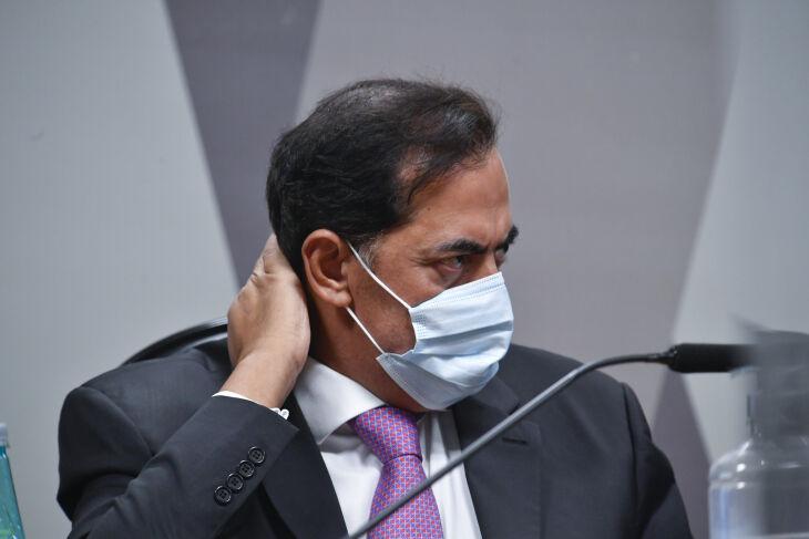 O empresário Marcos Tolentino compareceu para depor após a justiça garantir à CPI a possibilidade de fazer uma condução coercitiva(Foto: Edilson Rodrigues/Agência Senado)
