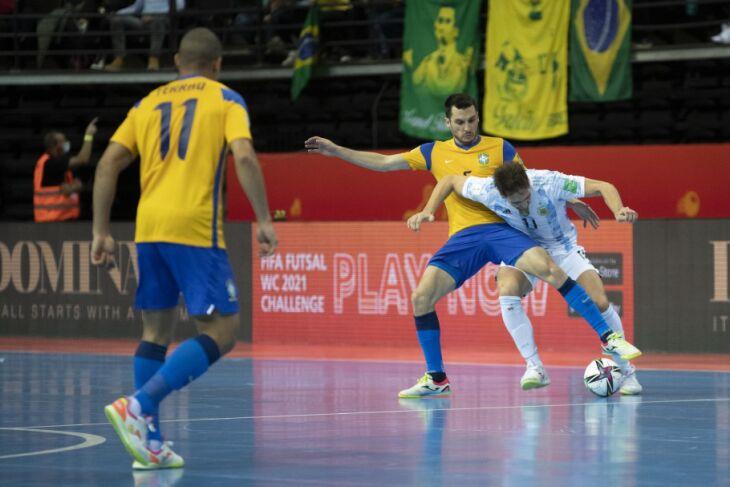 O time brasileiro não conseguiu alcançar o empate (Foto: Thais Magalhães/CBF)