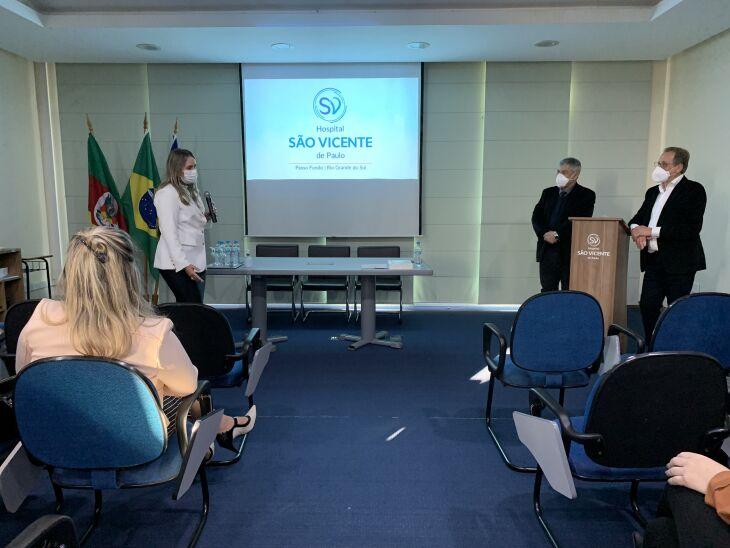 O hospital apresentou o modelo de administração da instituição (Foto: Flávia Dias/Comunicação HSVP)