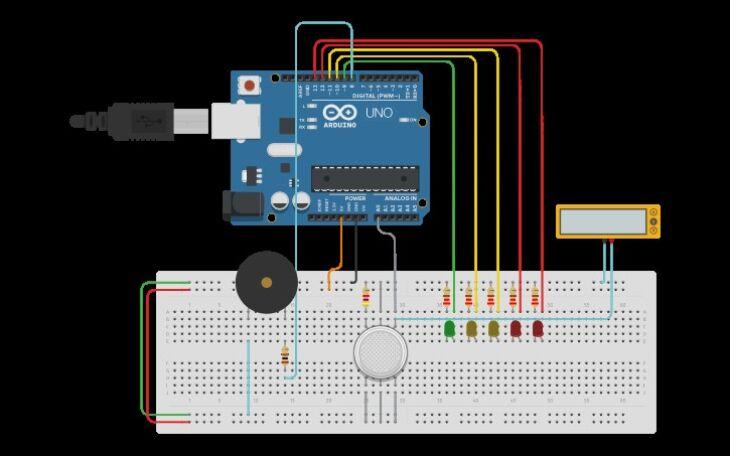 Circuito simples que pode ser feito no simulador utilizado na etapa (Foto: Reprodução)
