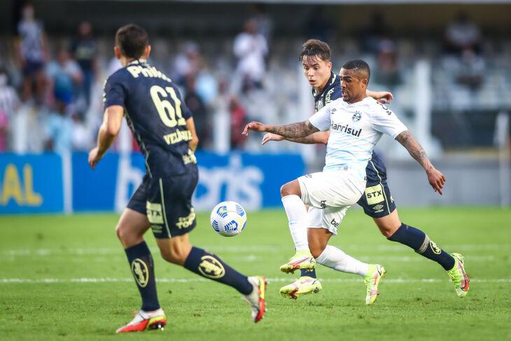 O resultado não foi o esperado e o Tricolor acabou superado pelo Peixe por 1 a 0 (Fotos: Lucas Uebel/Grêmio FBPA)