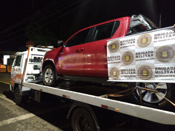 Veículo apreendido estava em situação de roubo/furto (Foto: Divulgação/Brigada Militar)