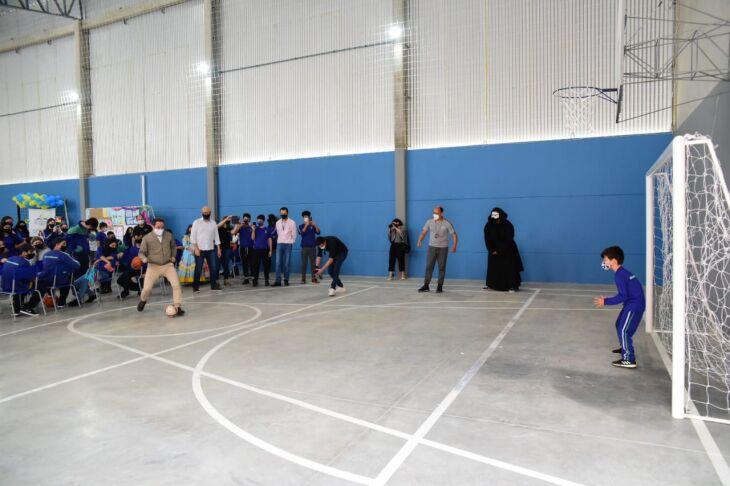 A entrega da quadra foi feita com inúmeras atividades esportivas e culturais (Foto: Diogo Zanatta/PMPF)