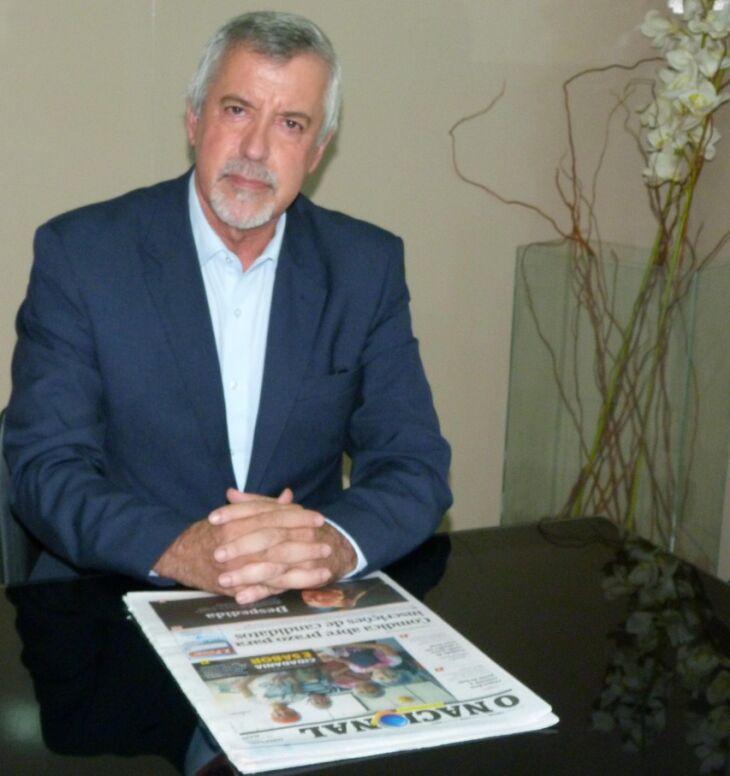 Presidente do Sintergs, Joanes Machado da Rosa, esteve em Passo Fundo na terça-feira (14)