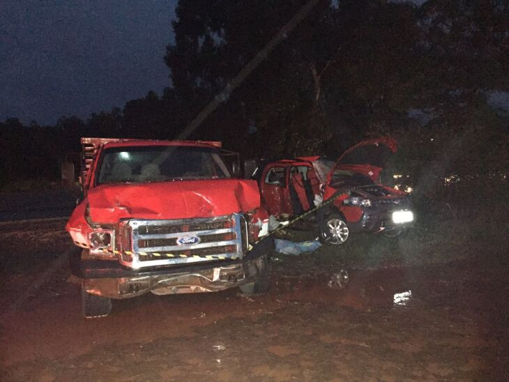 Acidente envolveu dois veículos na Esquina Penz, em Ernestina