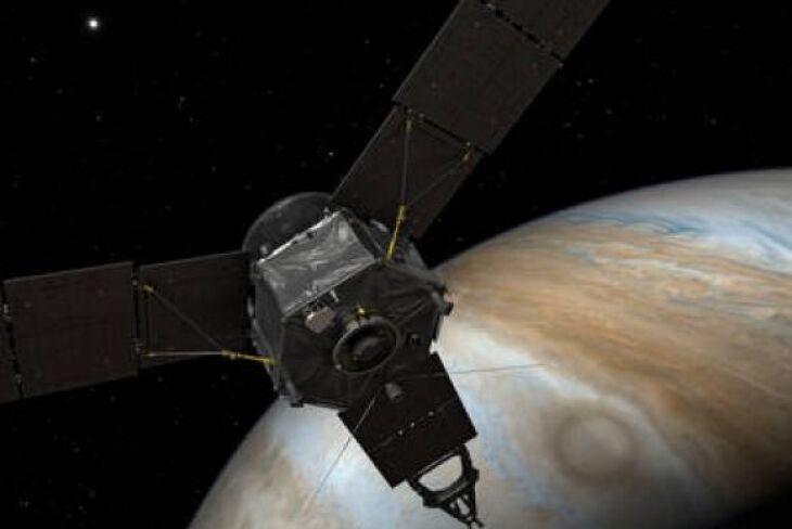 A viagem da sonda Juno, movida por energia solar, até Júpiter durou quase cinco anos