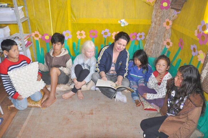 Para manter cultura da língua, crianças estão sendo alfabetizadas em caingangue
