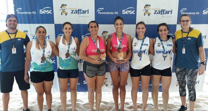 Premiação do vôlei feminino