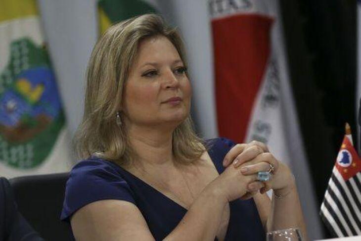 A líder do governo no Congresso, deputada Joice Hasselmann, esteve no Planalto para discutir a reforma da Previdência