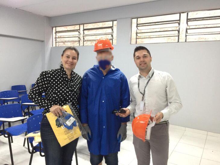Cerca de mil peças de EPIs foram entregues aos apenados para a proteção em atividades laborais cotidianas