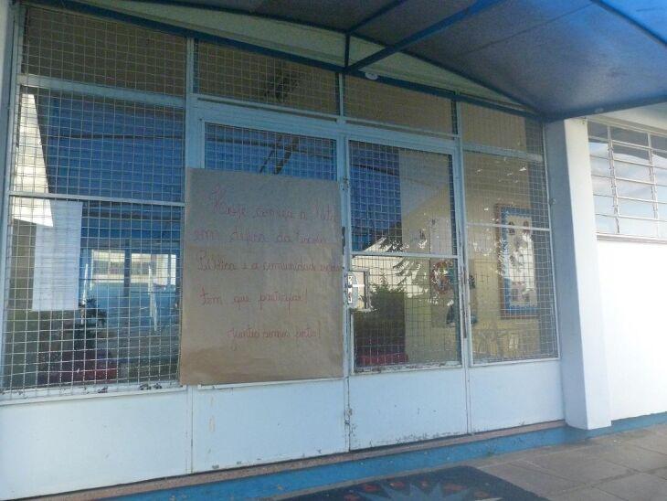 Uma das maiores escolas de Passo Fundo, a EENAV decidiu pela greve