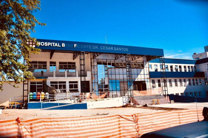 Obra de reforma e ampliação do Hospital Municipal aumentará a área de leitos de 35 para 54