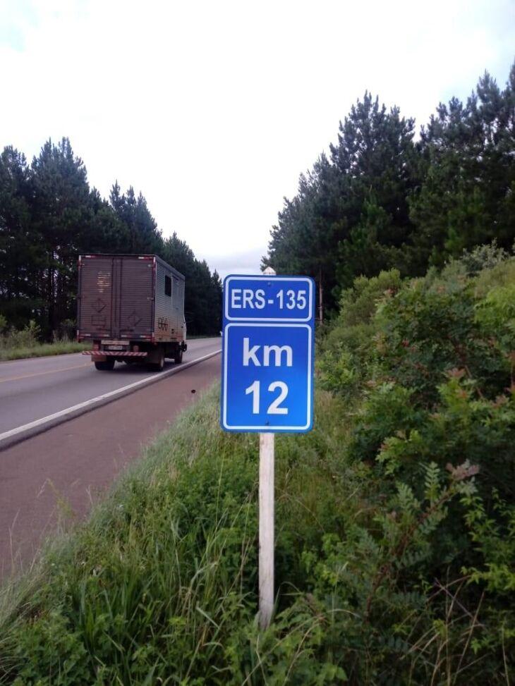 A ERS 135 passou por reparos recentemente. Concessão do trecho entre Passo Fundo e Erechim é da EGR