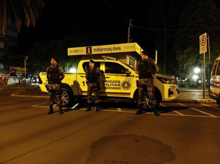 A Brigada Militar e a Polícia Civil estão realizando ações para coibir a aglomeração de pessoas
